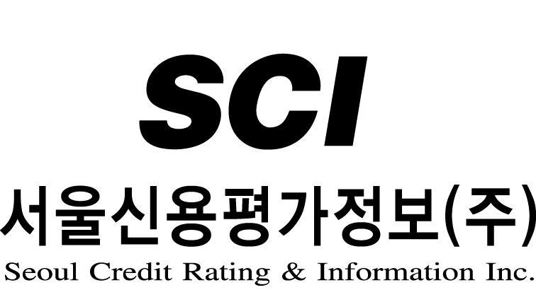 진원이앤씨의 계열사 에스씨아이평가정보(주)의 로고