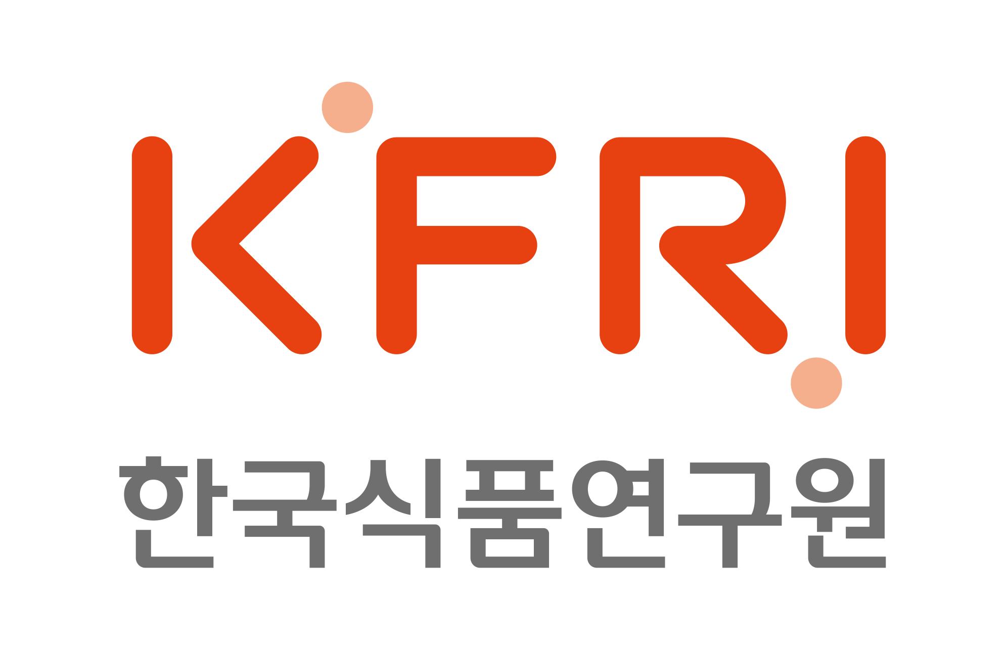과학기술정보통신부의 계열사 한국식품연구원의 로고