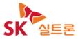 SK의 계열사 에스케이실트론(주)의 로고