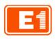 엘에스의 계열사 (주)E1의 로고
