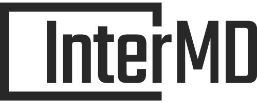 보령홀딩스의 계열사 (주)인터엠디컴퍼니의 로고