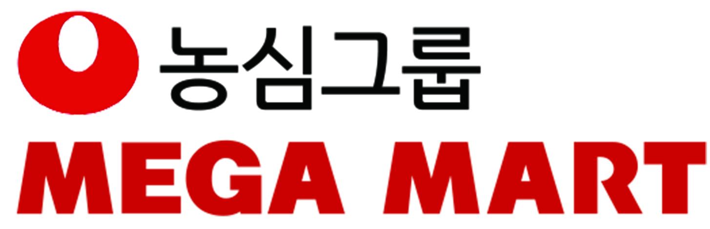 농심의 계열사 (주)메가마트의 로고