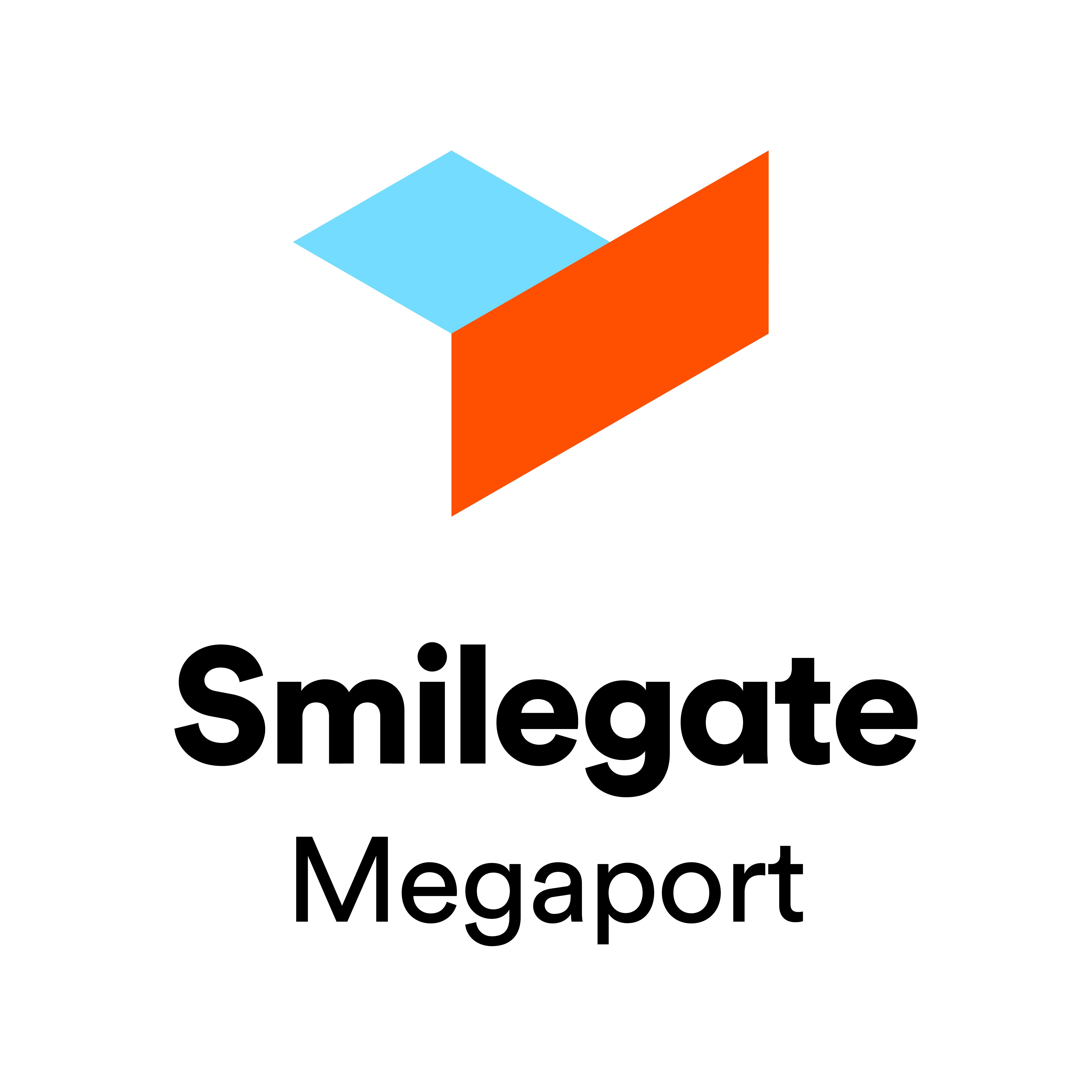 스마일게이트홀딩스의 계열사 (주)스마일게이트메가포트의 로고