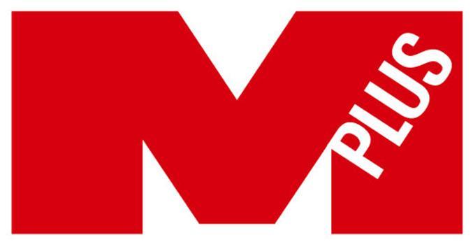 군인공제회의 계열사 엠플러스에프엔씨(주)의 로고