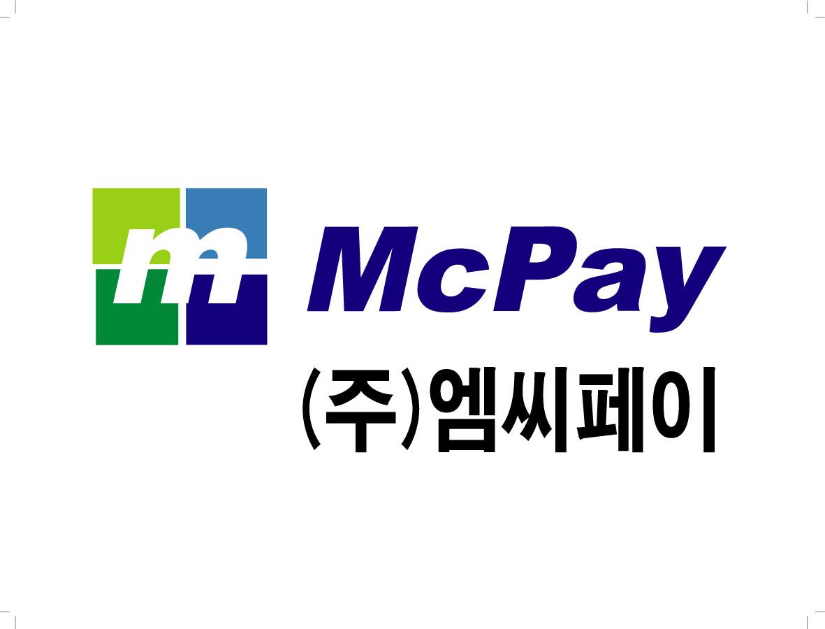 엔에이치엔의 계열사 (주)엠씨페이의 로고