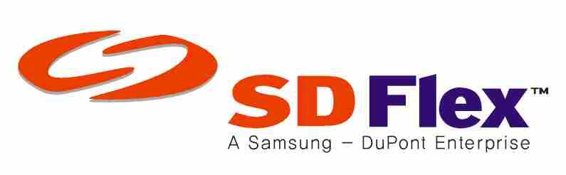 삼성의 계열사 에스디플렉스(주)의 로고