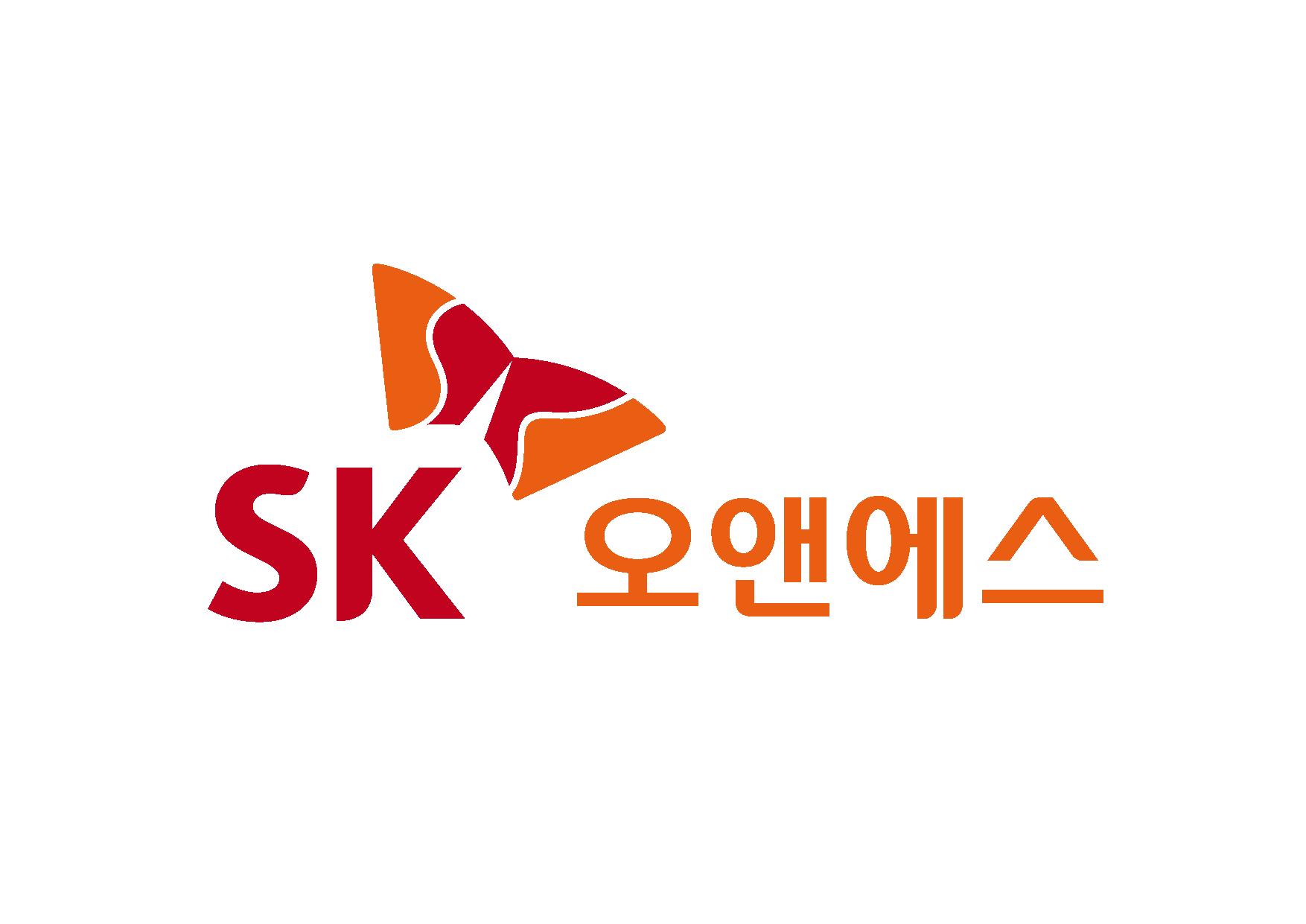 SK의 계열사 에스케이오앤에스(주)의 로고