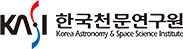 과학기술정보통신부의 계열사 한국천문연구원의 로고