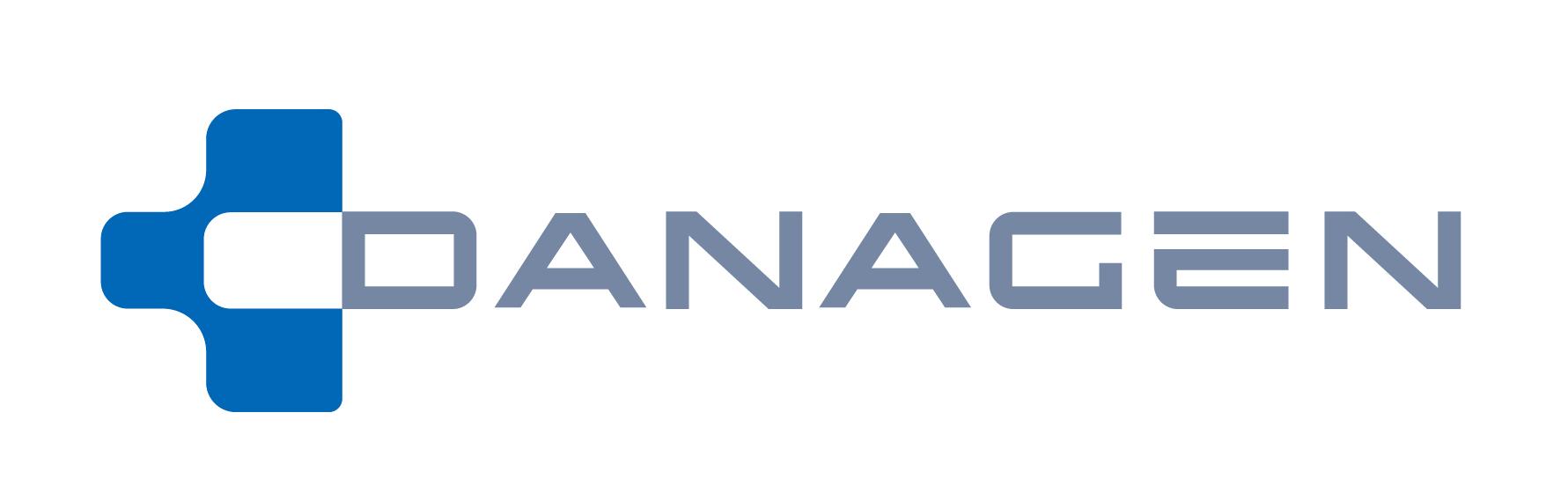 대원제약의 계열사 (주)다나젠의 로고