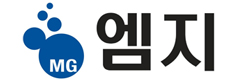 유한양행의 계열사 (주)엠지의 로고