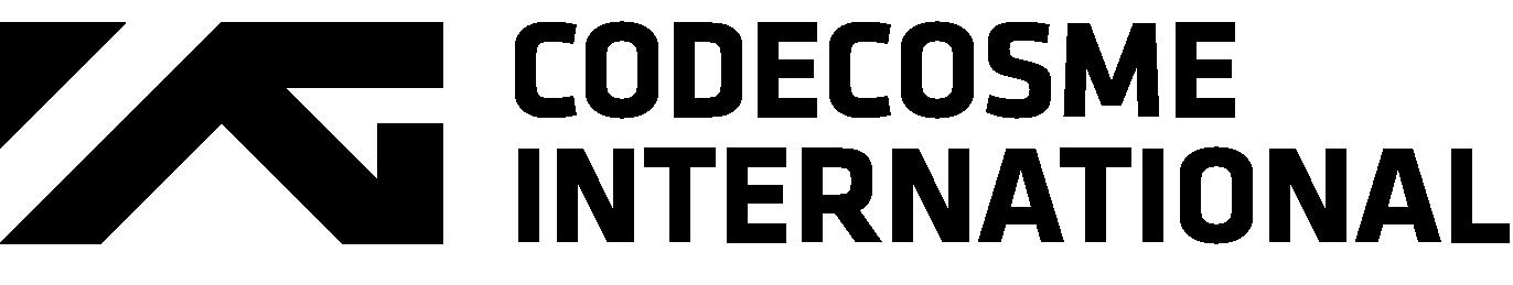 와이지엔터테인먼트의 계열사 코드코스메인터내셔널(주)의 로고