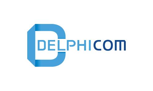 델피콤(주)의 기업로고