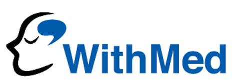 멕아이씨에스의 계열사 (주)위드메드의 로고