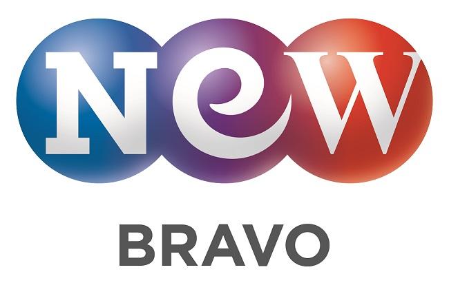 넥스트엔터테인먼트월드의 계열사 (주)브라보앤뉴의 로고