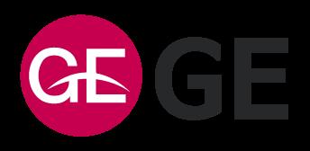 이화전기공업의 계열사 (주)지이의 로고
