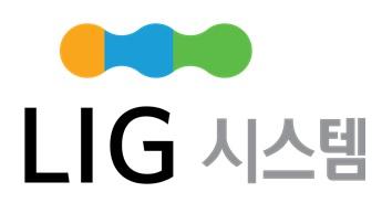 엘아이지의 계열사 (주)엘아이지시스템의 로고
