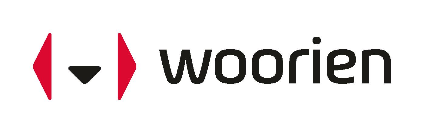 바텍이우홀딩스의 계열사 (주)우리엔의 로고