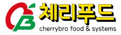 체리부로의 계열사 (주)체리푸드의 로고
