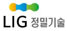 엘아이지의 계열사 엘아이지정밀기술(주)의 로고
