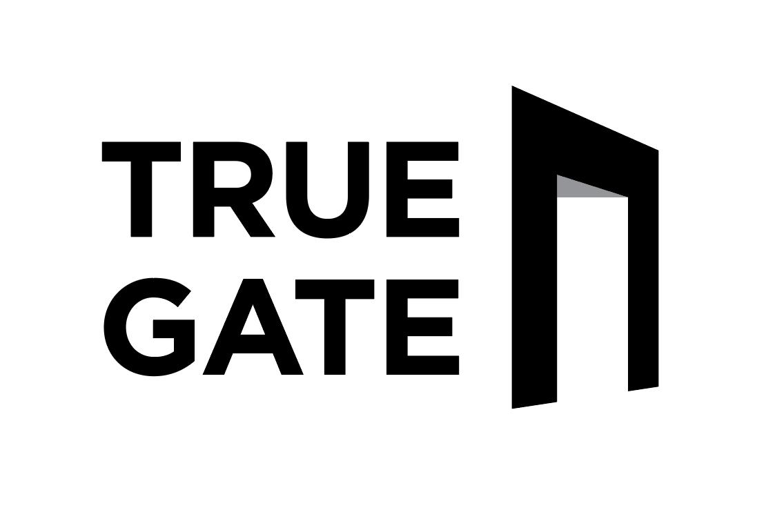 아우딘퓨쳐스의 계열사 (주)트루게이트의 로고