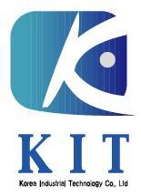 이화전기공업의 계열사 (주)케이아이티의 로고