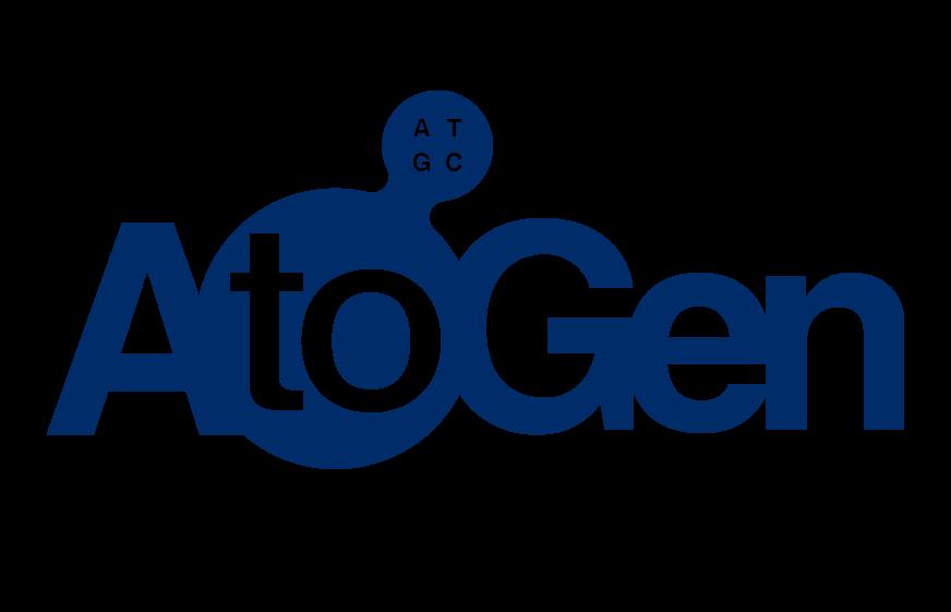 토니모리의 계열사 (주)에이투젠의 로고