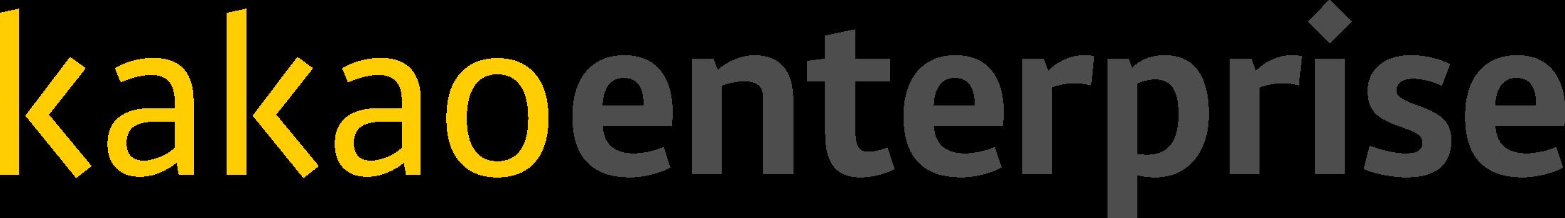 카카오의 계열사 (주)카카오엔터프라이즈의 로고