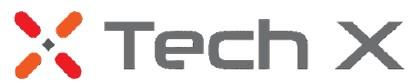 대성하이텍의 계열사 (주)테크엑스의 로고