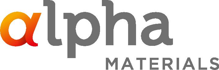 알파홀딩스의 계열사 (주)알파머티리얼즈의 로고