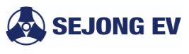 세종공업의 계열사 (주)세종이브이의 로고