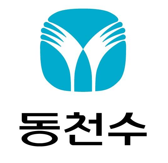 동아쏘시오의 계열사 (주)동천수의 로고