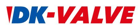 디케이락의 계열사 디케이밸브(주)의 로고