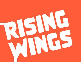 크래프톤의 계열사 라이징윙스(주)의 로고