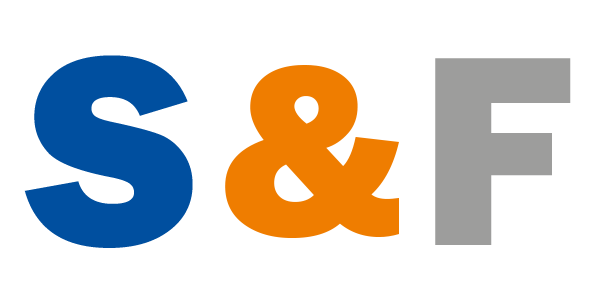 에스넷시스템의 계열사 (주)에스앤에프네트웍스의 로고