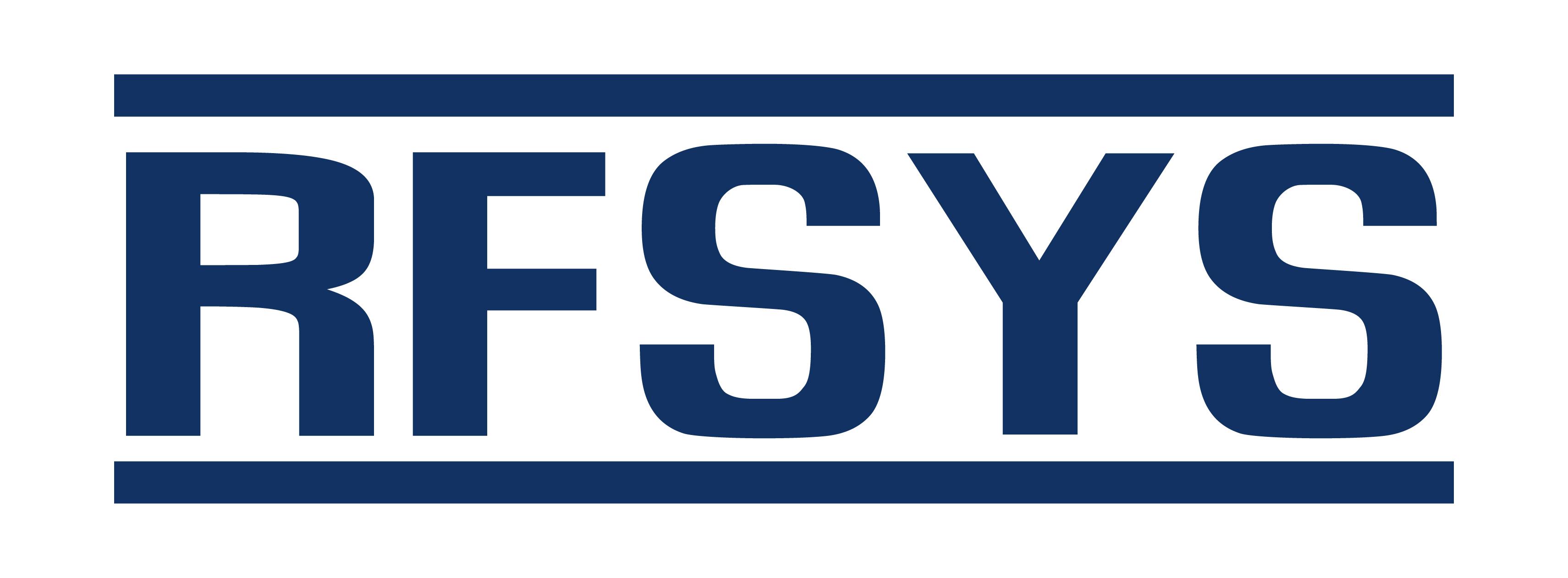 알에프에이치아이씨의 계열사 알에프시스템즈(주)의 로고