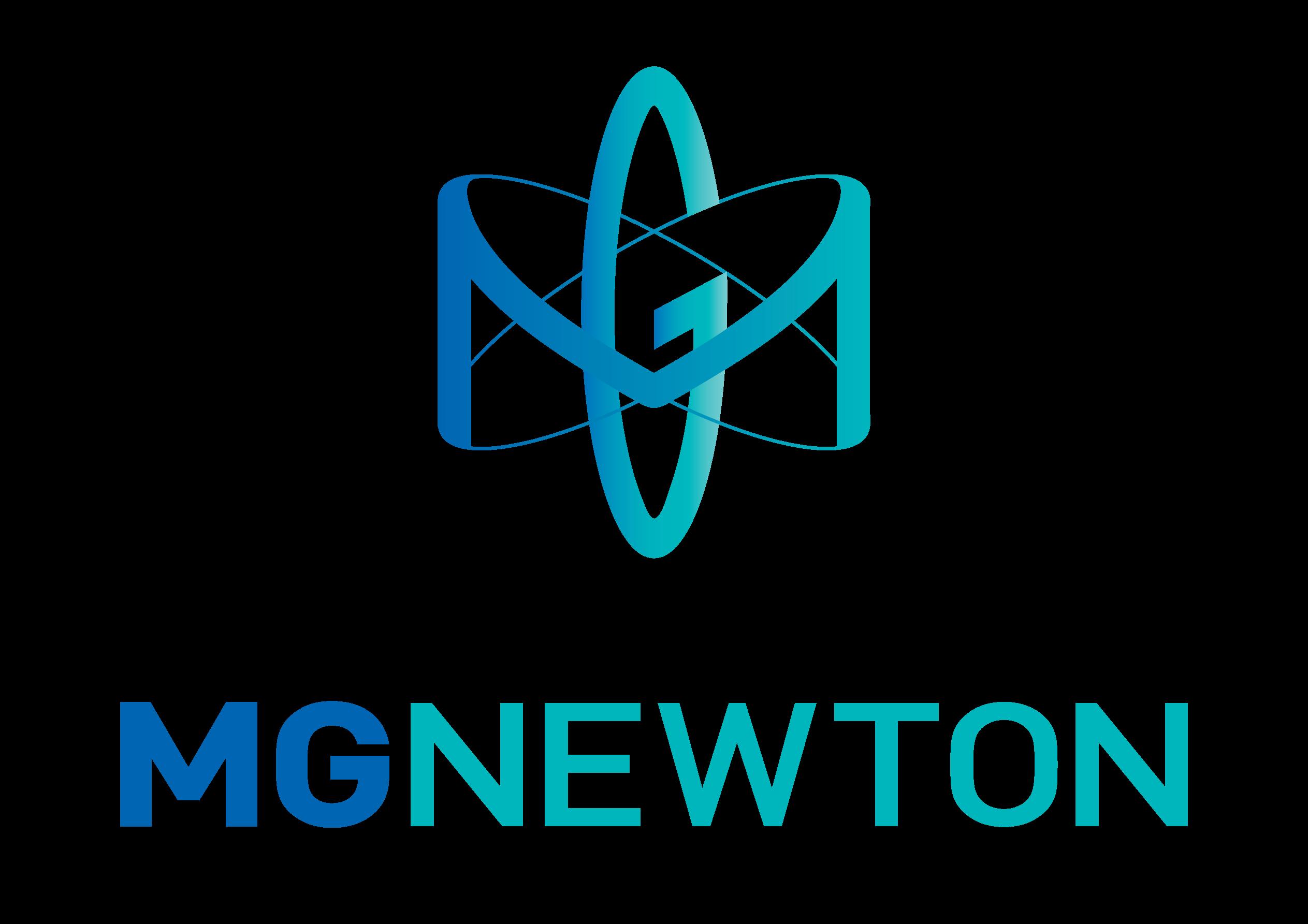 메가젠임플란트의 계열사 (주)엠지뉴턴의 로고