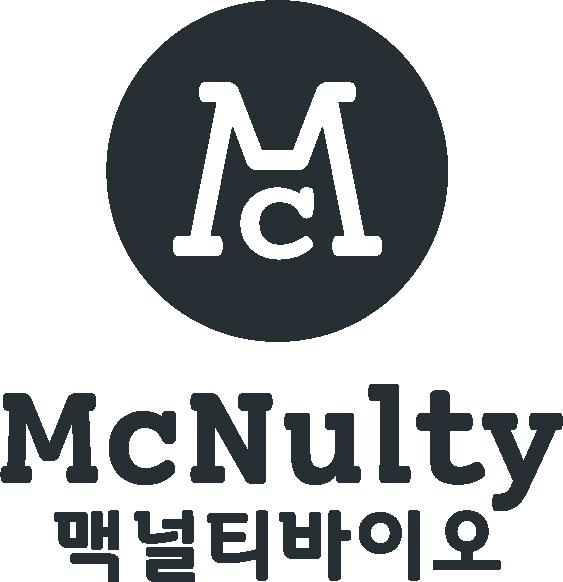 한국생활건강의 계열사 (주)맥널티바이오의 로고